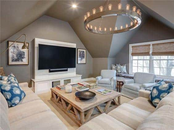 Cool Bonus Room With Sectional Couch
