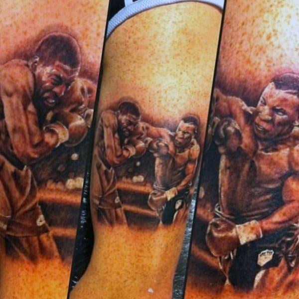 Cool Boxing Tattoo For Men