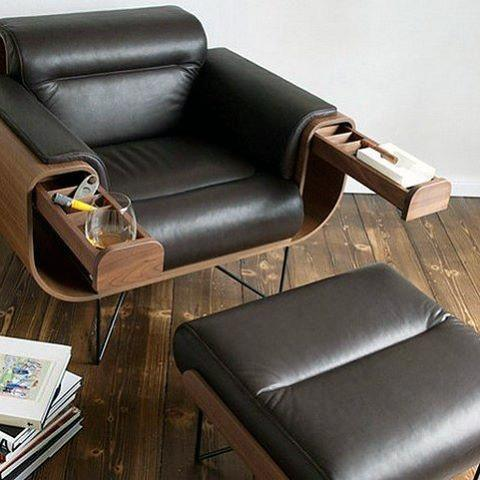 Cool Chair With Pull Out Arms Bachelor Pad Furniture