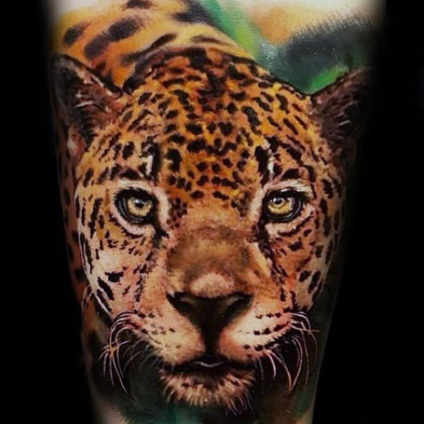 Cool Cheetah Gus Forearm Tattoo With Realistic Design