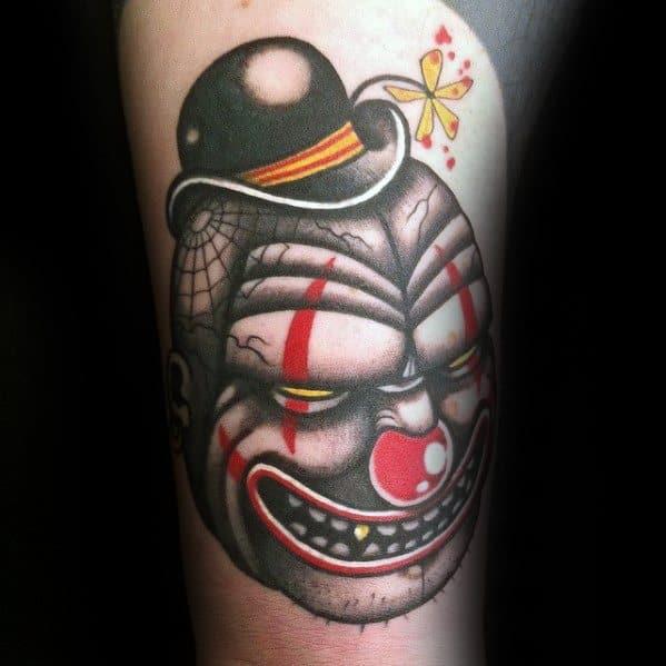 Cool Circus Clown Tattoo Design Ideas For Male
