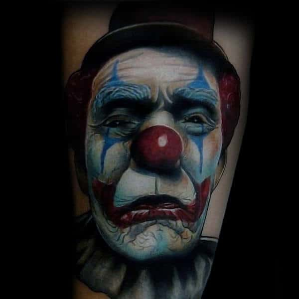 Cool Circus Clown Tattoo Inspiration For Guys On Arm
