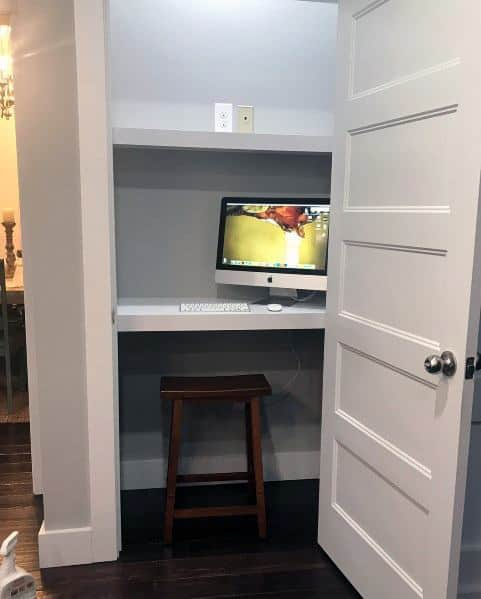 Cool Closet Office Designs For Small Spaces