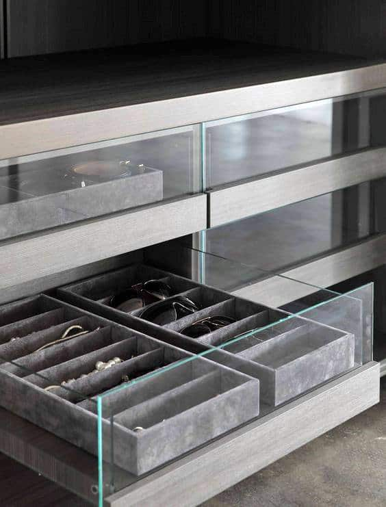 Cool Closet Sliding Accessory Drawer Design For Men