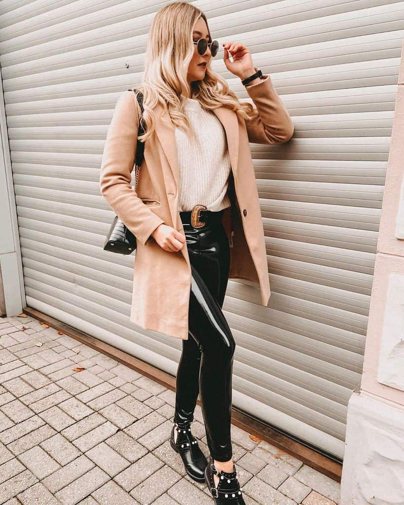 Cool Coat Leather Pants Style