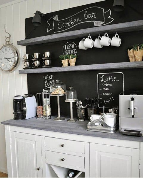 Top 40 Best Home Bar Designs And Ideas For Men: Cool Personal Java Cafe Designs