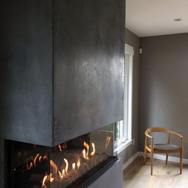 Cool Concrete Fireplace Design