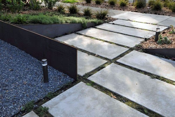 Top 60 Best Concrete Walkway Ideas - Outdoor Path Designs