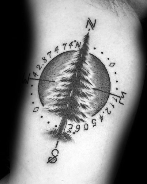 Cool Coordinate Tattoos For Men