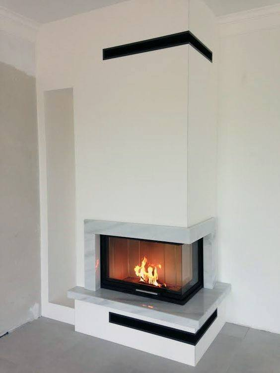 Cool Corner Fireplace Designs