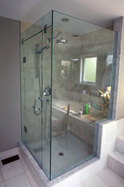 Cool Corner Glass Walk In Shower