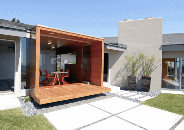 Cool Covered Floating Deck Design Ideas