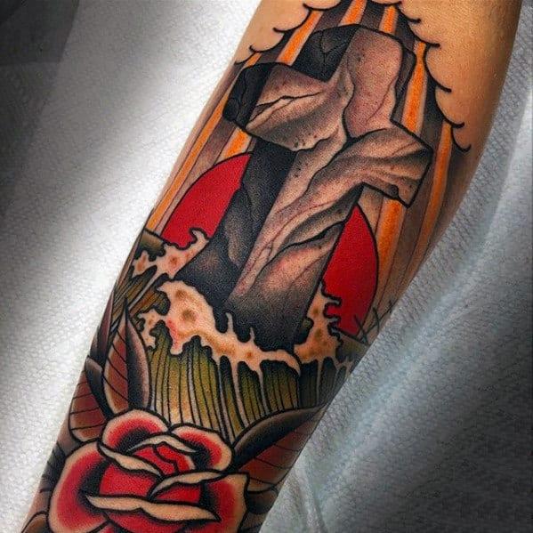 Cool Cross Tattoos For Men