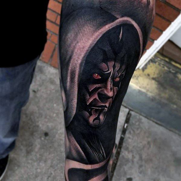 Cool Darth Maul Tattoo Design Ideas For Males Forearm Sleeve