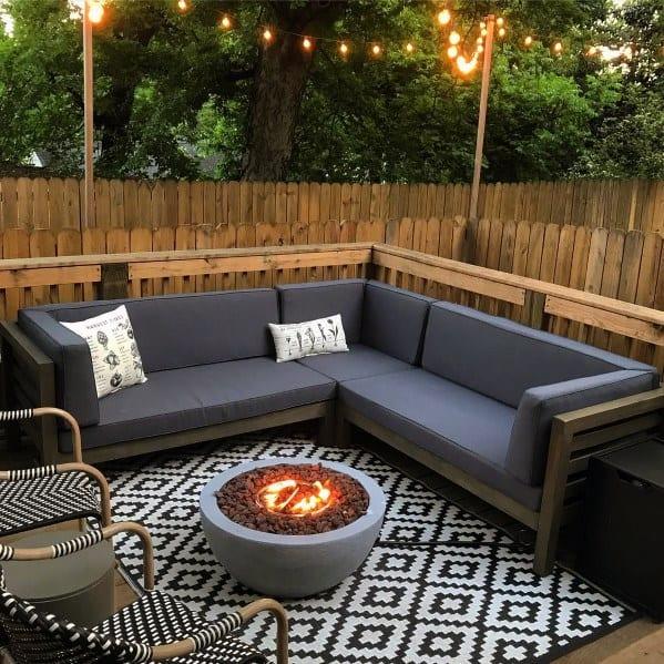 Cool Deck Fire Pit Patio Design Ideas