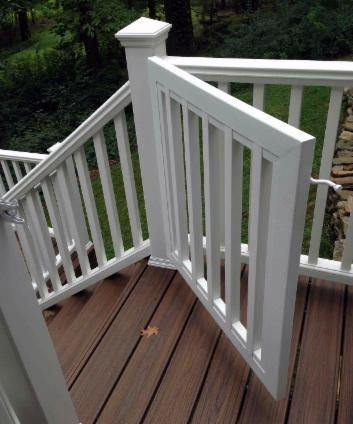 Cool Deck Gate White Vinyl