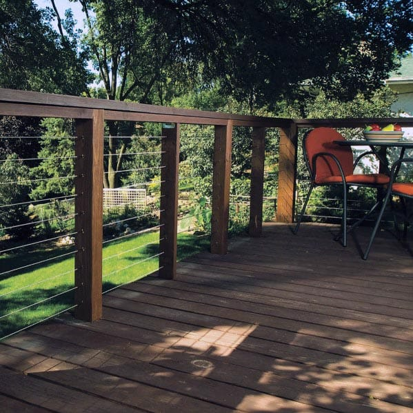 Cool Deck Railing Design Ideas Steel Wire