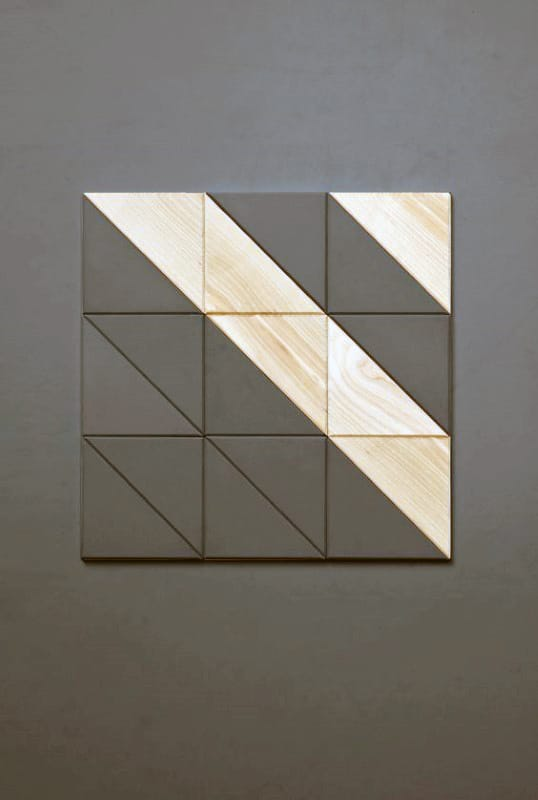 Cool Diy Man Cave Wall Decor Wood Block With Grey Striped Paint