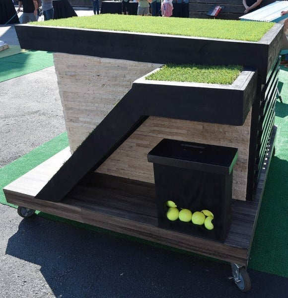 Cool Dog Houses With Grass Roof And Tennis Ball Organizer