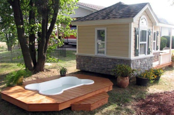 Cool Dog Houses With Pool Deck