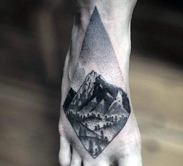 100 cool tattoos for men manly design ideas with originality for Mens foot tattoos