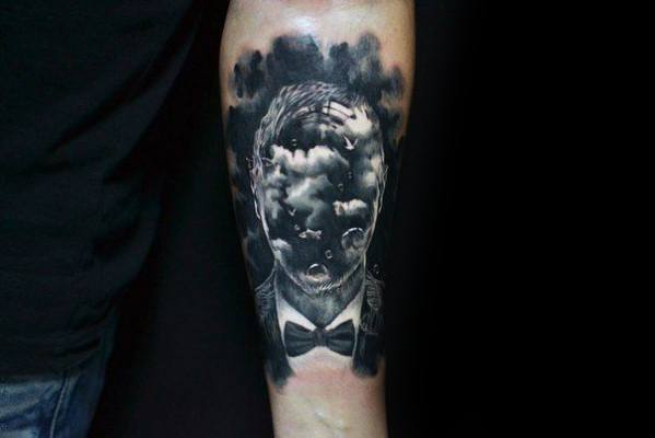 Cool Double Exposure Tattoo Design Ideas For Male
