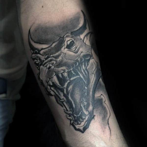 Cool Dragon Head Male Inner Forearm Tattoos