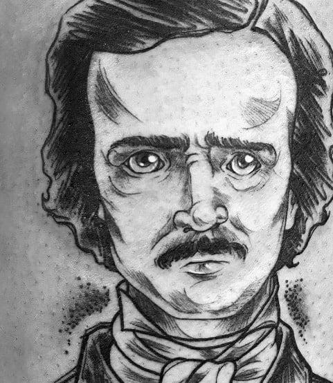 Cool Edgar Allan Poe Tattoos For Men