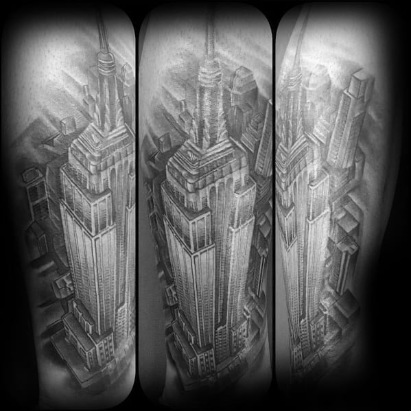 Cool Empire State Building Tattoos For Men