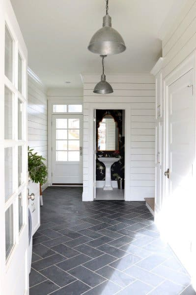 Cool Entryway Tile Grey Slate