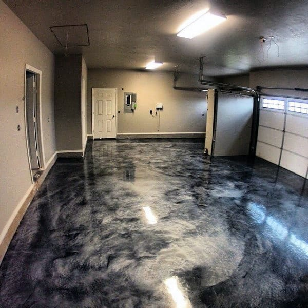 Modern Garage Floor Tiles Design With Grey Color Interior: 90 Garage Flooring Ideas For Men