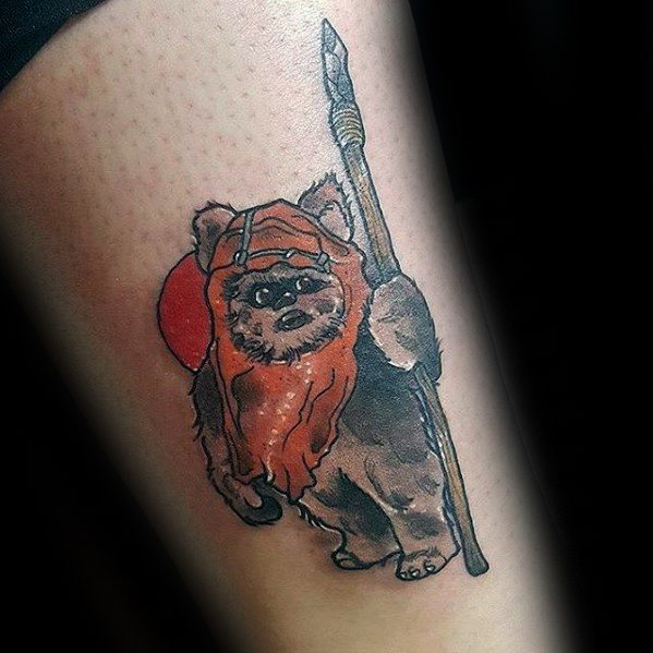 Cool Ewok Tattoo Design Ideas For Male