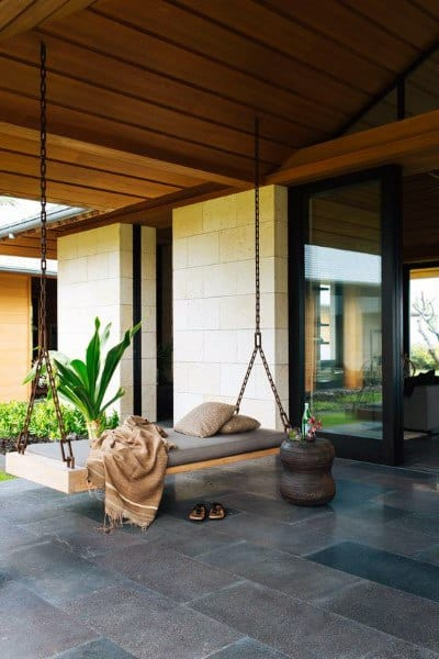 Cool Exterior Of House Hanging Bed Ideas