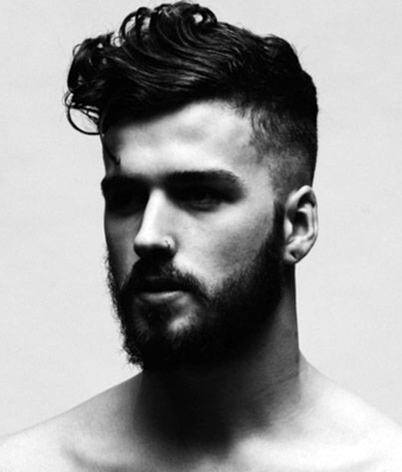 Cool Fade Modern Mens Hair With Side Part Curls