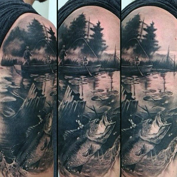 Cool Fishing Tattoos For Males On Arm