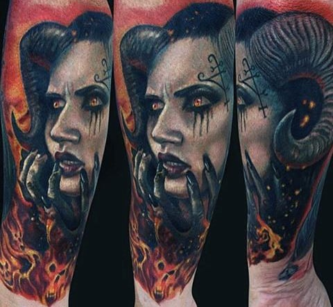 Cool Flame Tattoos For Men On Wrist