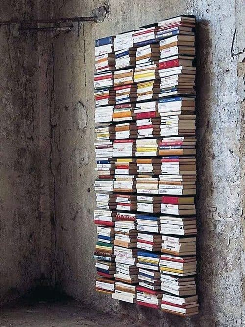 Cool Floating Bookcase Man Cave Decor Ideas