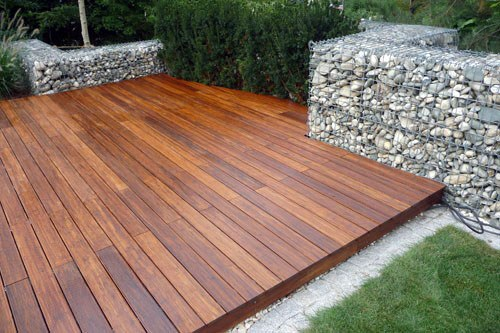 Cool Floating Wood Deck
