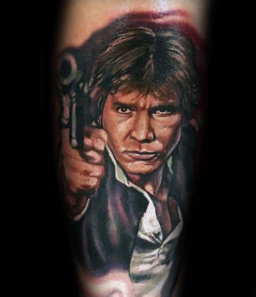Cool Forearm Han Solo Tattoo Design Ideas For Male