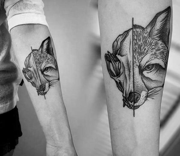 Cool Fox Skull Tattoo Design Ideas For Male