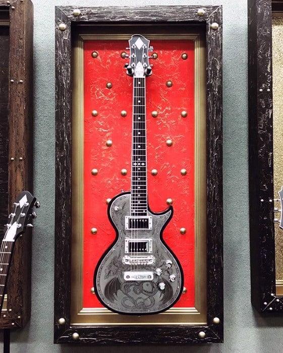 Cool Framed Guitar Mens Bachelor Pad Decor
