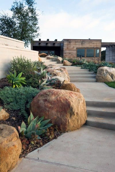 Cool Front Yard Landscaping Design Ideas Sidewalk
