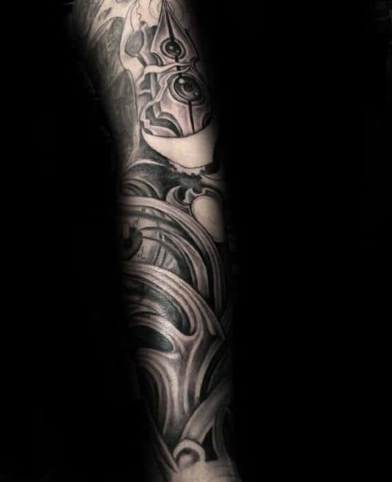 Cool Full Arm Masculine Sleeve 3d Tattoos For Gentlemen