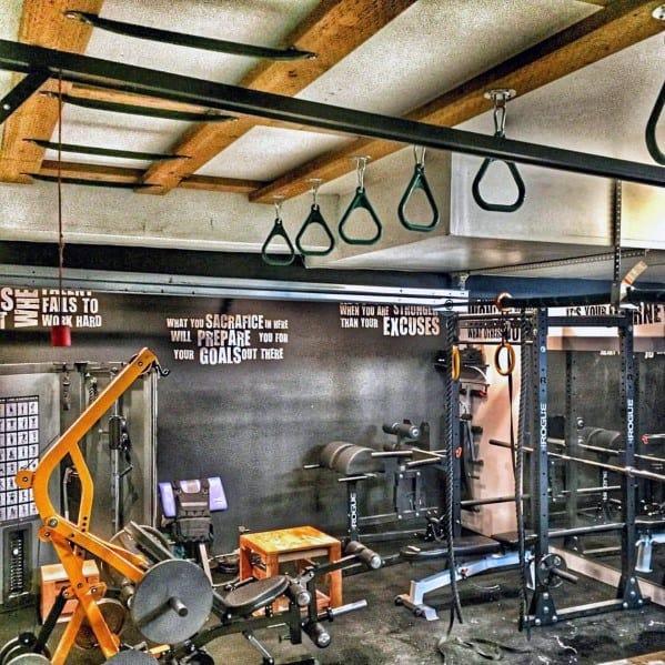 Interior Design Ideas For Home Gym: Top 75 Best Garage Gym Ideas