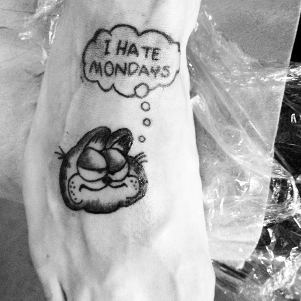 50 Garfield Tattoo Ideas For Men Comic Cat Designs