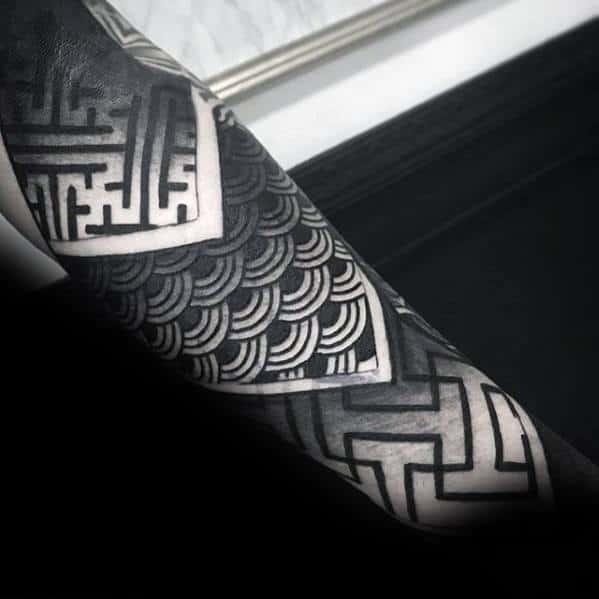 Cool Geometric Forearm Tattoo Design Ideas For Male