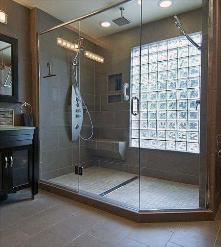Cool Glass Block Design Ideas Shower Window