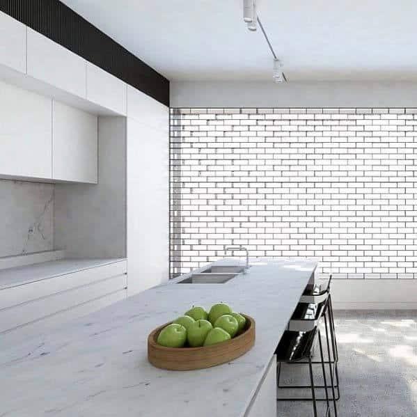 Cool Glass Block Kitchen Wall Window