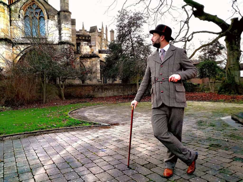 Cool Gray Victorian Suit Style
