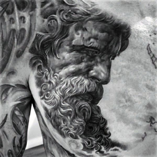 Cool Greek Myth God Tattoos On Arms Chest For Guys